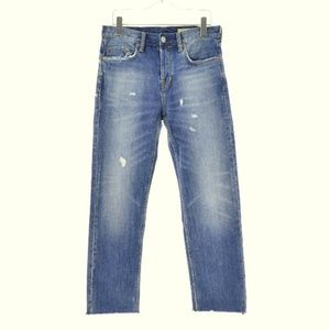 All Saints Jeans - ALLSAINTS New Mens 32 Sid Straight Crop Jeans